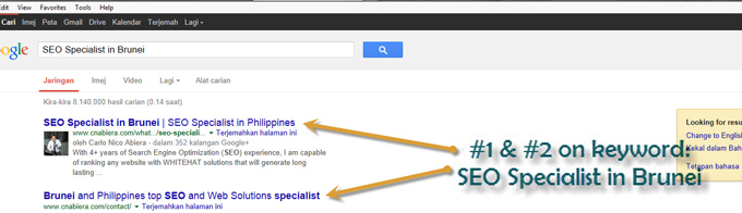 ranking success, SEO serivice in Brunei