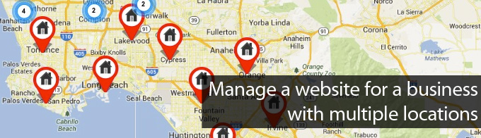 manage a website for a business with multiple locations