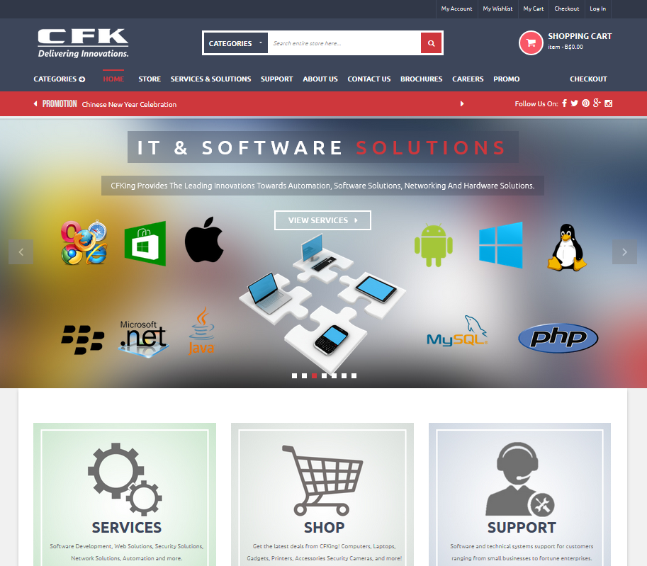 C. F. King Enterprise Ecommerce Website