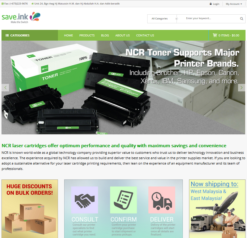 Save Ink Toner Cartridges Website